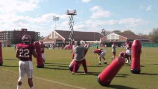 Alabama Outside Linebacker Drills