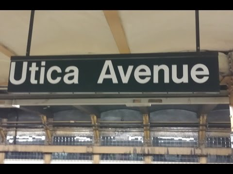 MTA New York City Subway: (3) (4) Trains @ Crown Heights Utica Avenue