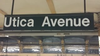 MTA New York City Subway: (3) (4) Trains @ Crown Heights Utica Avenue