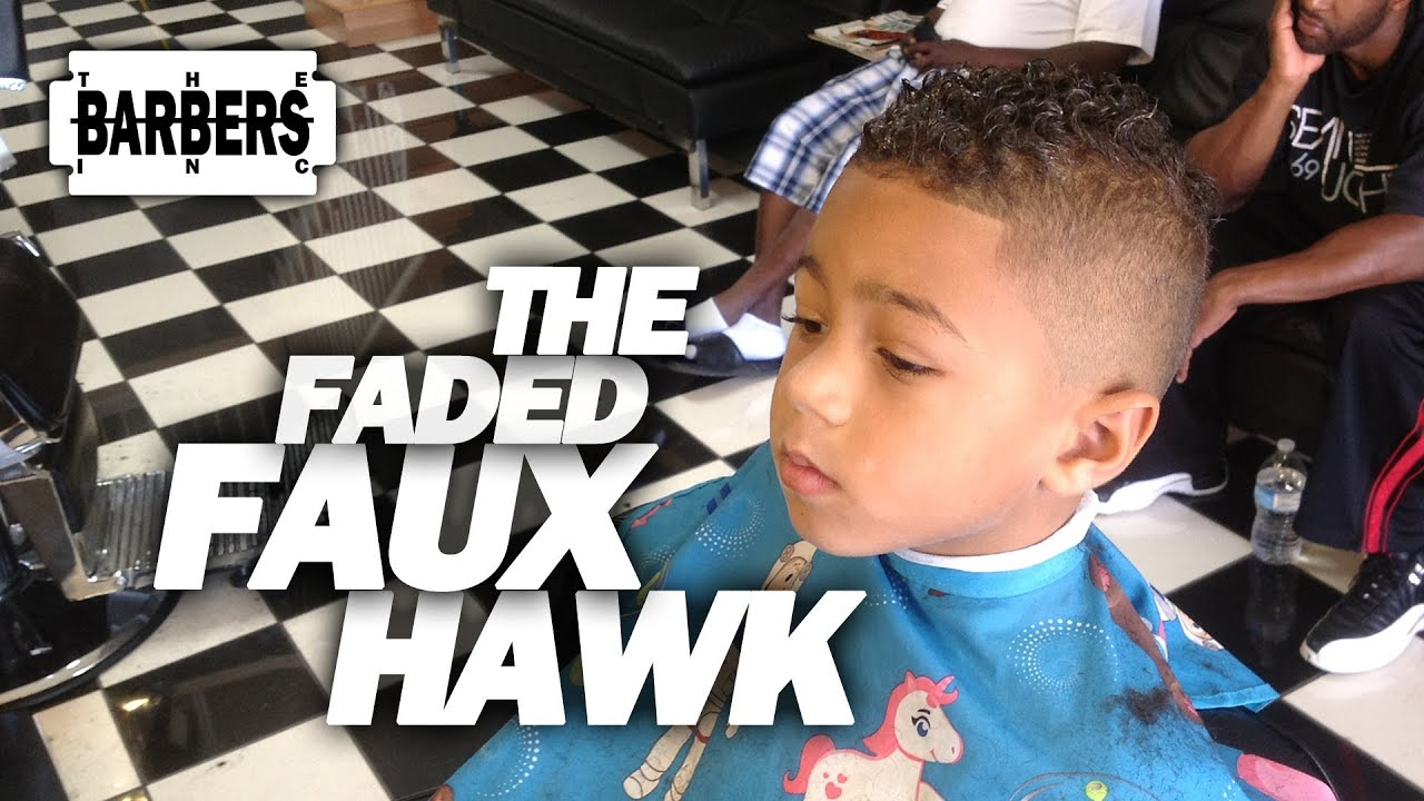 How To Kids Faded Faux Hawk Mohawk Mens Haircut Tutorial Hd