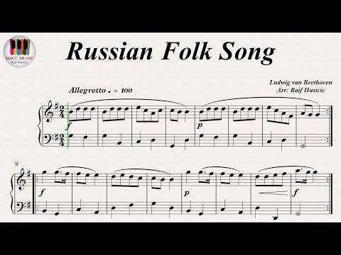Russian Folk Song, Op 107, No. 3 - Ludwig Van Beethoven, Piano