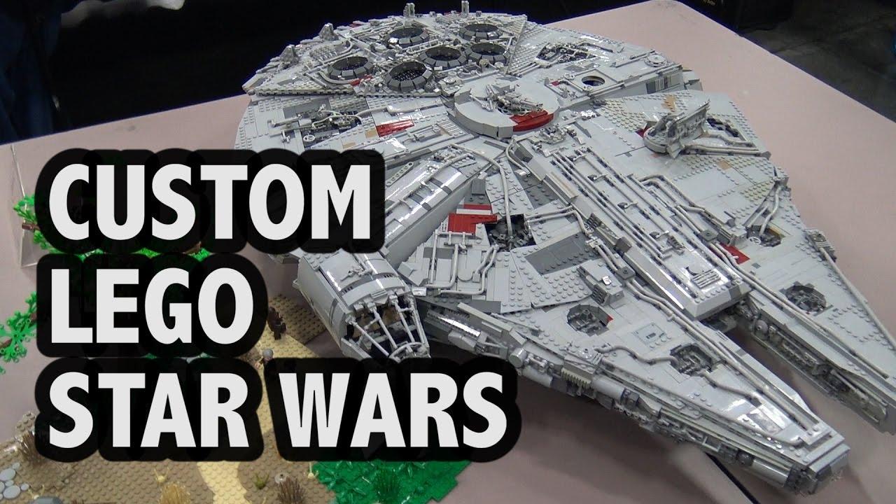 Detailed Custom LEGO Millennium Falcon Star Wars Ship ...