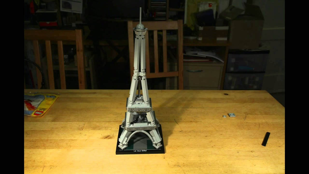 Lego architecture 21019 tour de eiffel youtube for Eiffel architect