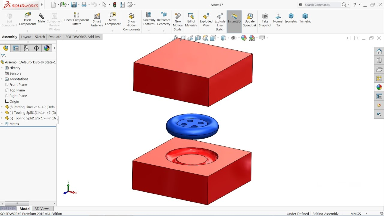 Solidworks Mold tools tutorial | Introduction of Mold tools in Solidworks
