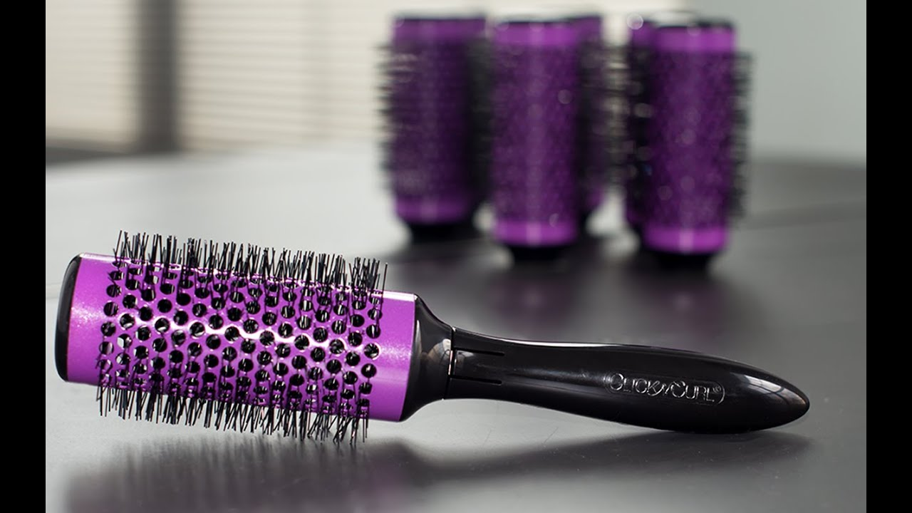 Click N Curl Detachable Round Brush Roller Set Youtube
