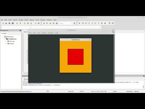 GTK3 CSS C Language Tutorial 105 ScaleButton&CSS Part 06 thumbnail