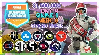 $1,500,000 🥊Grand Final Summer Skirmish🥊 Day 4/Game 1 Feat. Ninja Strafeshot (Fortnite)