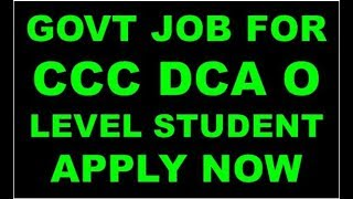 GOVT JOB FOR CCC DCA O LEVEL STUDENT APPLY NOW (APS ARO)