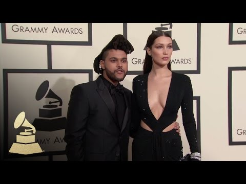 The Weeknd With Bella Hadid | Fashion Cam | 58th GRAMMYs