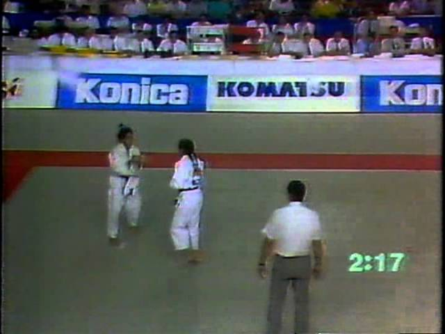 1991 Barcelona -52 Jessica Gal(NED) vs Perez(CUB)