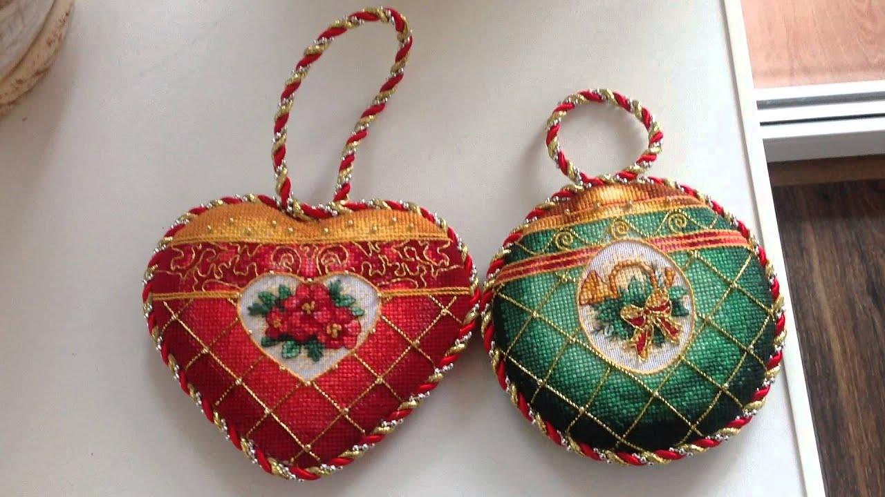 Вышивка крестом елочные шары