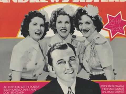 Andrews Sisters & Bing Crosby ::: Sparrow In The Treetop.