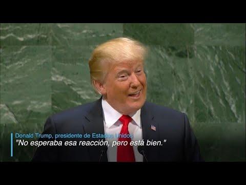 Trump causa carcajadas en la Asamblea General de la ONU