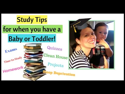 Study Tips for when you have a Baby or Toddler | How To Study with Kids