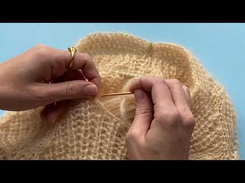 technique pour coudre les manches au corps (patron pull Seashell - Trust the Mojo)