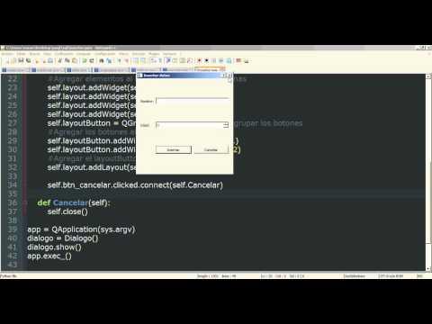 20 - Python PyQt (Interfaz gráfica) - QtSql MySQL (Insertar datos