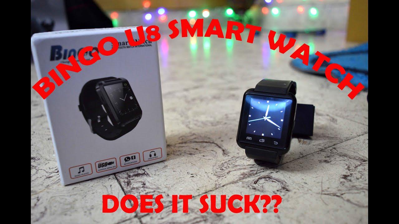 BINGO U8 SMART WATCH!!!!! WORTH IT???(UNBOXING & REVIEW ...
