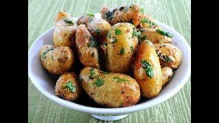 Запеченный Картофель с Салом.