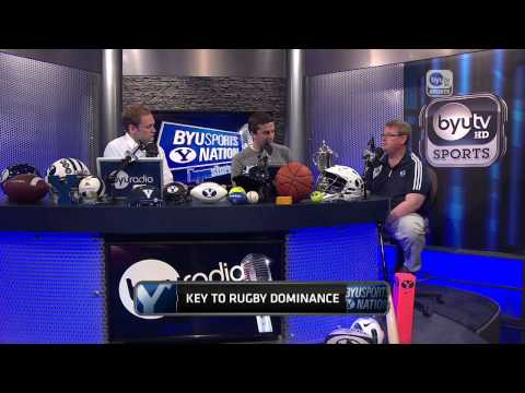 David Smyth brings the Varisty Cup to BYUSN