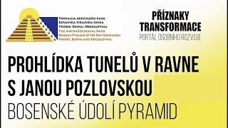 Prohlídka tunelů v Ravne v Bosně s Janou Pozlovskou