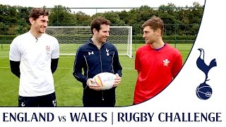 Ben Davies & Luke McGee - Footballers v Rugby | Spurs Rugby Challenge