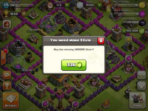 Clash of clans upgrading golem to max lvl