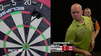 TWO NINE DARTERS FROM MICHAEL VAN GERWEN IN ONE MATCH!!