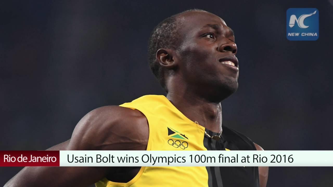 Usain Bolt wins Olympics 100m final at Rio 2016 - YouTube