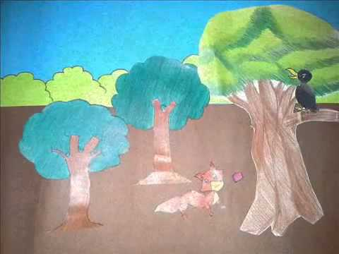 นิทานอีสป เรื่อง กาบ้ายอ (ภาพวาด)