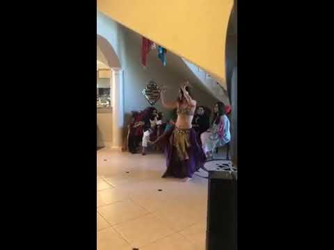 """Naamah Bellydance - """"Goddesses"""" Sword Belly dance at private party San Antonio"""