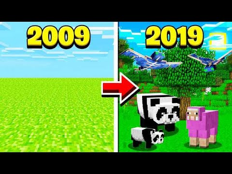 MINECRAFT BEFORE & AFTER 10 YEARS AGO