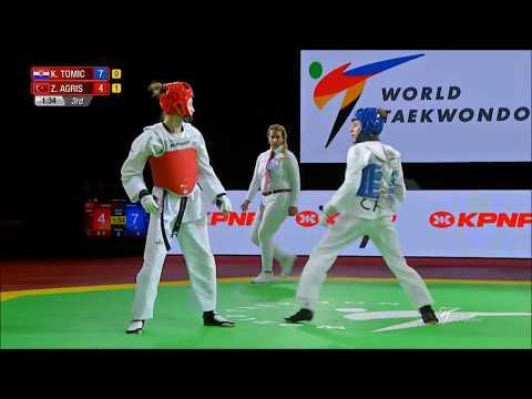 World Taekwondo Grand-Prix Moscow 2018. W - 49. Полуфинал. TOMIC-AGRIS