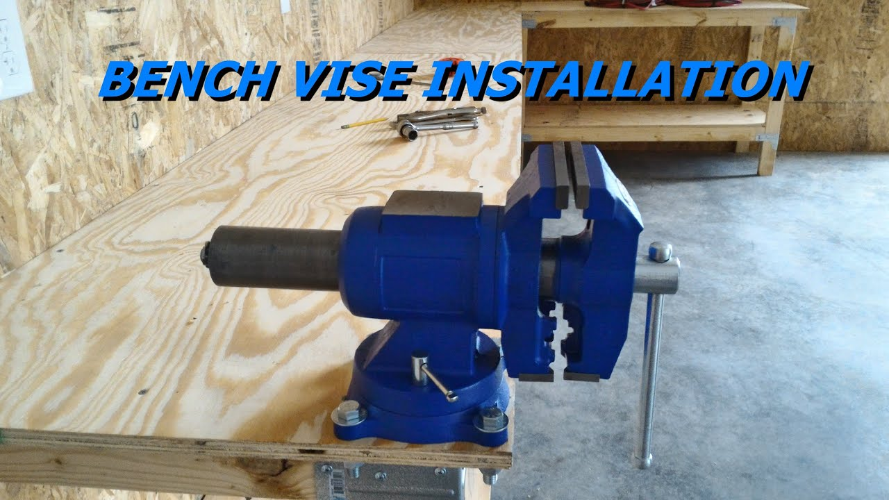 How to Install a Bench Vise - YouTube