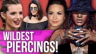 14 WILD PIERCINGS You Never Knew Celebrities Had!! (Dirty Laundry)
