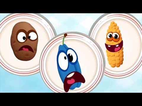 Thumbnail: Baby Learn Colors & Shapes with Funny Food 2 🍭 | Funny Food Learning Game for Preschool & Toddles