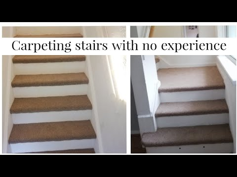 How To Carpet Stair Treads Only Becca Boo Youtube | Carpet Risers For Stairs | Hardwood Floors | Staircase Makeover | Hardwood | Open Riser | Stair Railing