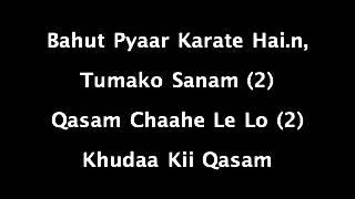 Bahat pyar karte hey ( karaoke with lyrics )