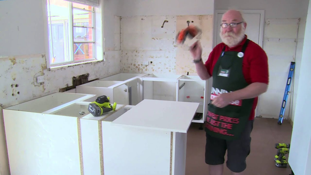 How to install a kitchen end panel diy at bunnings youtube for Kitchen cabinets bunnings