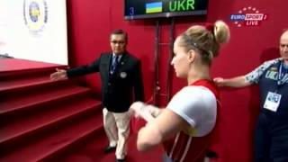 Женщины 58 кг Рывок ЧМ-2013