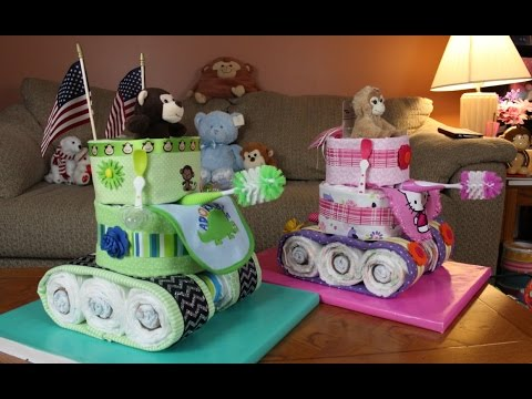 How To Make A Tank Diaper Cake
