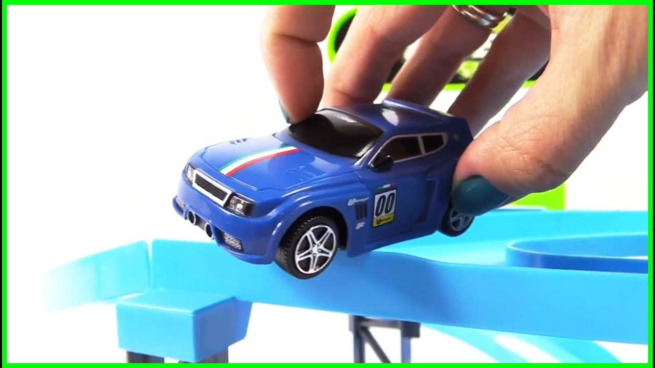 FLYING Toy Cars Collection Bussy & Speedy Bburago Race Track Toy