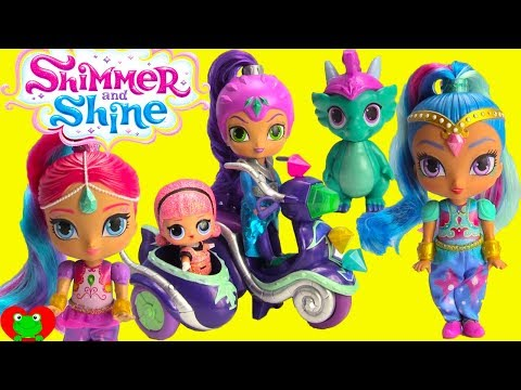 Shimmer and Shine Zeta's Motorbike with LOL Surprise Confetti Pop