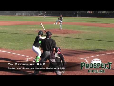 Tim Stegehuis Prospect Video, RHP, Arrowhead Christian Academy Class of 2020