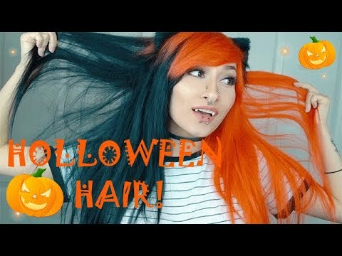 Black And Orange Halloween Hair Orange Hair Scream Kiwi Youtube