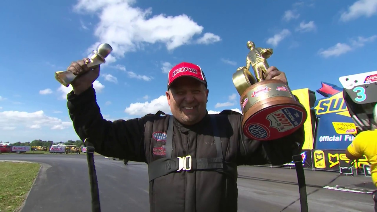 2018 Summit Racing Equipment Nationals Top Alcohol Funny Car winner Ray Drew