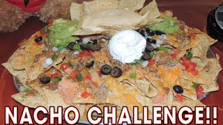 MASSIVE NACHO CHALLENGE FROM MAN V FOOD!!
