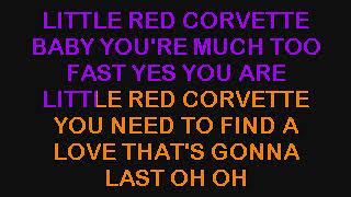 PRINCE -  LITTLE RED CORVETTE (KARAOKE VERSION & LYRICS & INSTRUMENTAL)