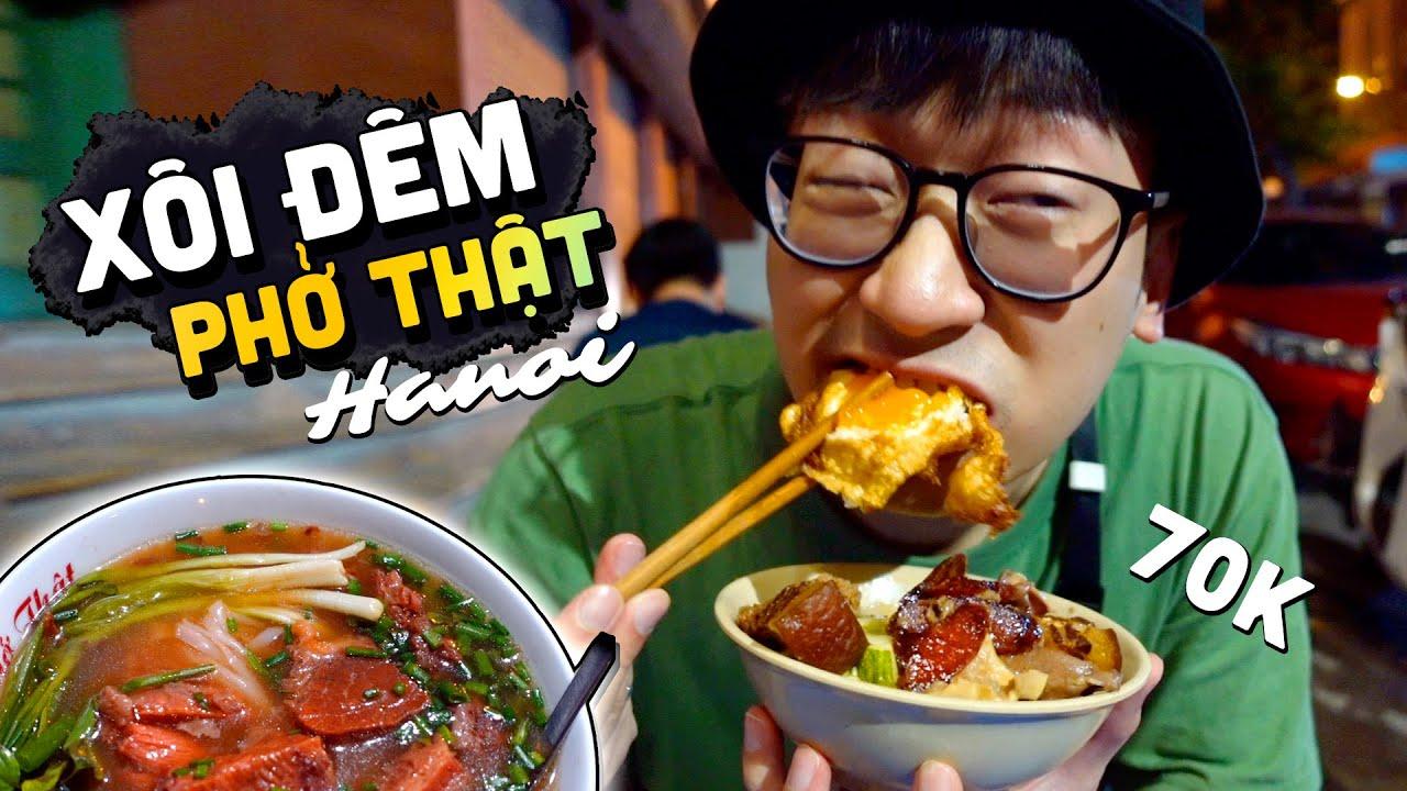Lang thang ăn XÔI ĐÊM 70k và PHỞ SỐT VANG siêu ngon ở Hà Nội// FOOD TOUR ĐÊM HÀ NỘI (tập 2)