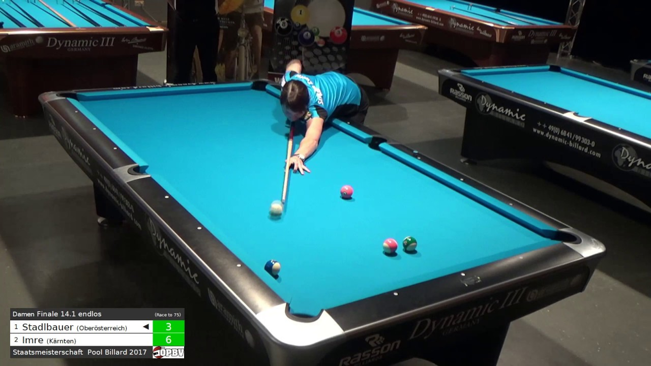 ÖSTM Pool Billard 2017 - 14.1 endlos - Damen Finale - Petra ...
