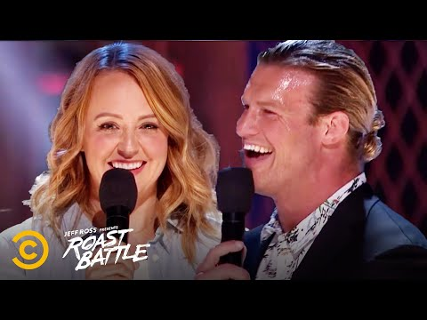 A Pro Wrestler Faces Off Against a Comedian - Dolph Ziggler vs. Sarah Tiana - Roast Battle